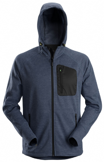 Snickers 8041 FlexiWork Fleece Hoodie (Navy/Black)